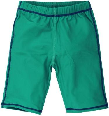 Oye Solid Boy's Green Basic Shorts
