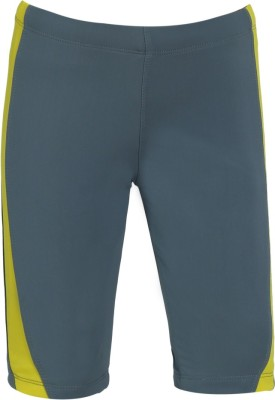 Aquamagica Solid Boy's Grey Basic Shorts
