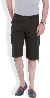 Skie Studio Solid Men's Green Chino Shorts