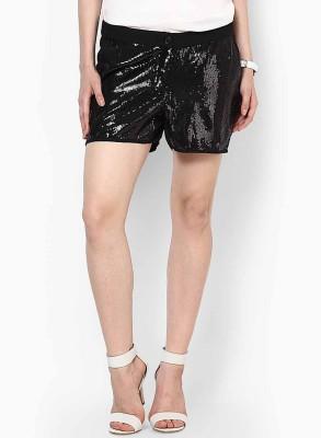 Vero Moda Embellished Women's Black Basic Shorts