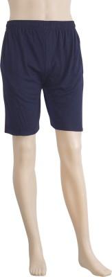 Karwan International Solid Men's Blue Sports Shorts