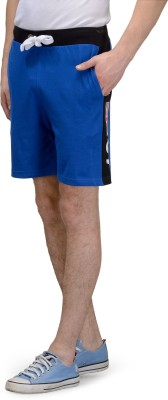 TSX Solid Men's Blue Gym Shorts, Basic Shorts, Sports Shorts