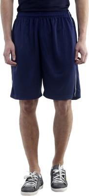 Meebaw Solid Men,s Dark Blue Gym Shorts