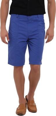 I-Voc Solid Men's Blue Chino Shorts