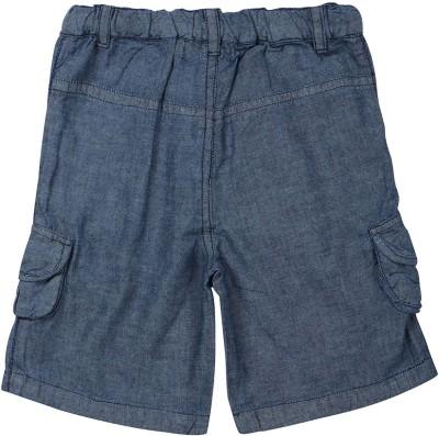 ShopperTree Solid Baby Girl's Blue Denim Shorts