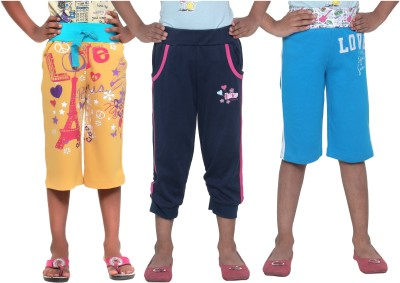 Menthol Printed Girl's Yellow, Blue, Blue Board Shorts