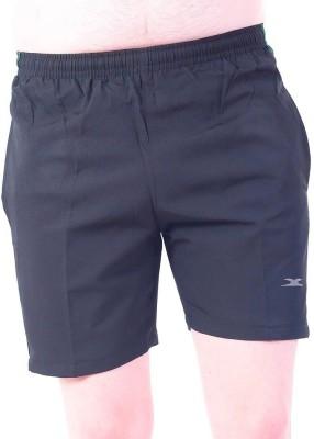 Zagros Solid Men's Black, Green Sports Shorts