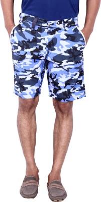Calloway Printed Men's Blue, White Basic Shorts