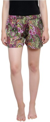 Iwonder Printed Women's Multicolor Basic Shorts