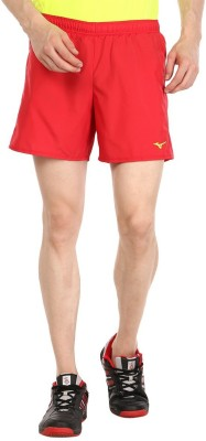 Mizuno Solid Men's Red Sports Shorts