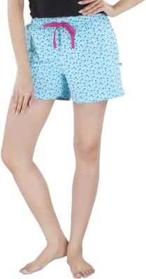 Nite Flite Graphic Print Women's Blue, Multicolor Night Shorts