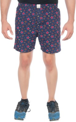 Abony Printed Men's Dark Blue, Red Boxer Shorts