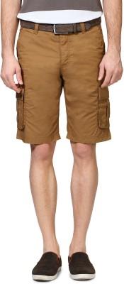 Van Heusen Solid Men's Brown Basic Shorts