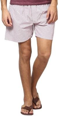 Yuvi Checkered Men's Red, White Boxer Shorts