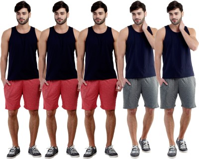 Dee Mannequin Self Design Men's Red, Red, Red, Grey, Pink Sports Shorts