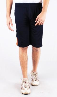 Repugn Solid Men's Dark Blue Sports Shorts