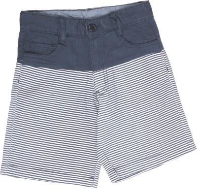 Coffee Bean Self Design Boy's Dark Blue Basic Shorts