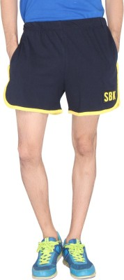 LUCfashion Solid Men's Blue, Yellow Sports Shorts