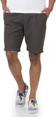 Shapes Solid Men's Brown Chino Shorts