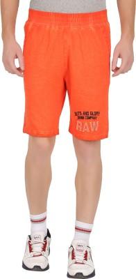 GUTS N GLORY Printed Men's Orange Sports Shorts