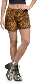 The Gud Look Printed Women's Multicolor Basic Shorts