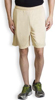 Yaadi Solid Men's Beige Sports Shorts