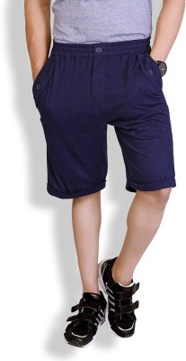 Lanosuc Solid Men's Blue Basic Shorts