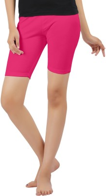 Softwear Solid Women's Pink Cycling Shorts