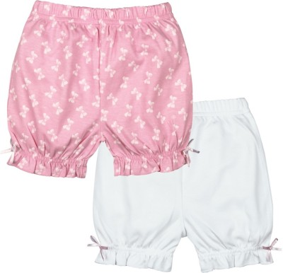 Mom & Me Printed Baby Girl's Multicolor Basic Shorts