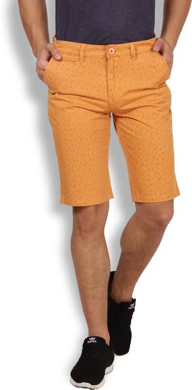 I-Voc Printed Men's Orange Chino Shorts