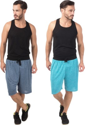 Meebaw Self Design Men,s Dark Blue, Blue Sports Shorts