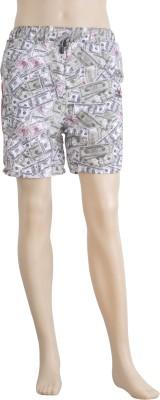 Karwan International Printed Men's Grey Sports Shorts