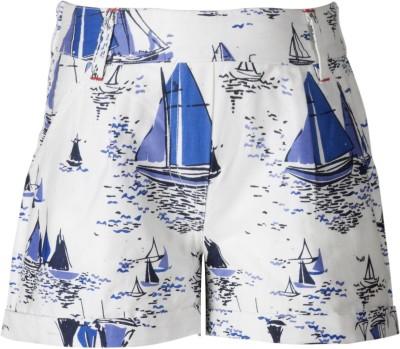 Naughty Ninos Graphic Print Girl's Multicolor Basic Shorts