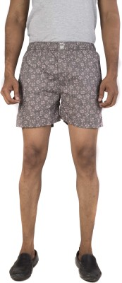 urbantouch Printed Men's Grey Boxer Shorts