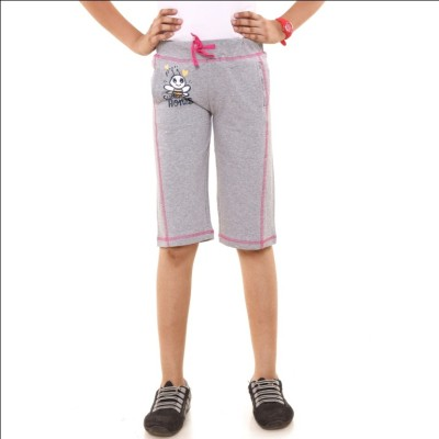 Menthol Printed Girl's Grey Board Shorts