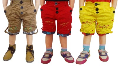 AD & AV Solid Boy's Brown, Red, Yellow Basic Shorts