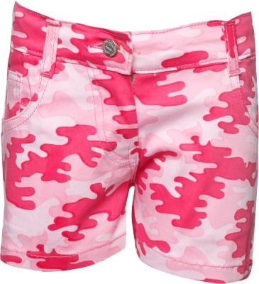 Joshua Tree Printed Girl's Pink Hotpants