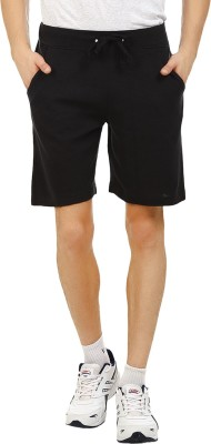 American Crew Solid Men's Black Basic Shorts