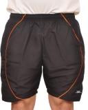 Zagros Solid Men's Black Sports Shorts, ...