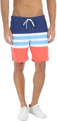 Zobello Self Design Mens Multicolor Swim Shorts