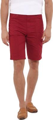 I-Voc Solid Men's Maroon Chino Shorts