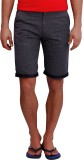 Blue77 Solid Men's Grey Basic Shorts