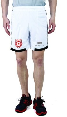 T10 Sports Solid Men's White Running Shorts