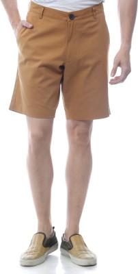 Yuvi Solid Men's Gold Chino Shorts