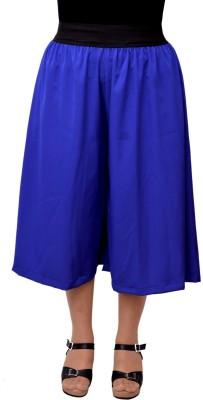 Gracediva Solid Women's Blue Culotte Shorts