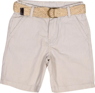 Irene Solid Boy's Beige Basic Shorts