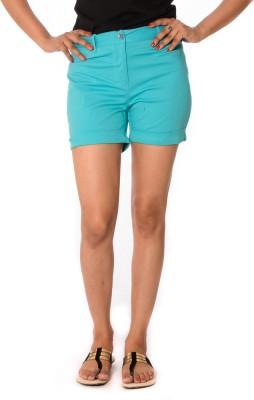 Oviya Solid Women's Light Blue Basic Shorts