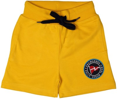 Allen Solly Solid Boy's Yellow Basic Shorts