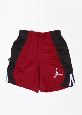 Jordan Kids Printed Boy's Black, Red Sports Shorts