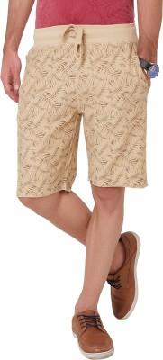 Elaborado Printed Men,s Brown Basic Shorts
